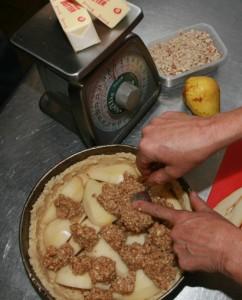 autumn pear tart