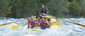family rafting at California