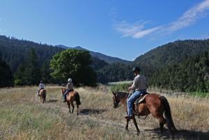 Riding through scenic vistas at California
