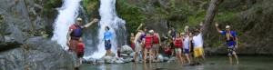 waterfall hike at California